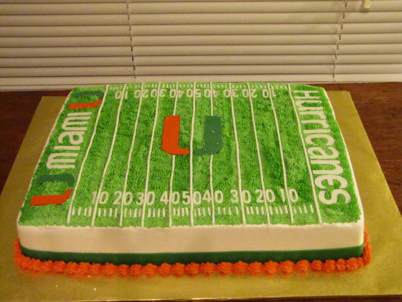 Miami Hurricanes Cakes Simply Delightful Cakes Miami Hurricanes