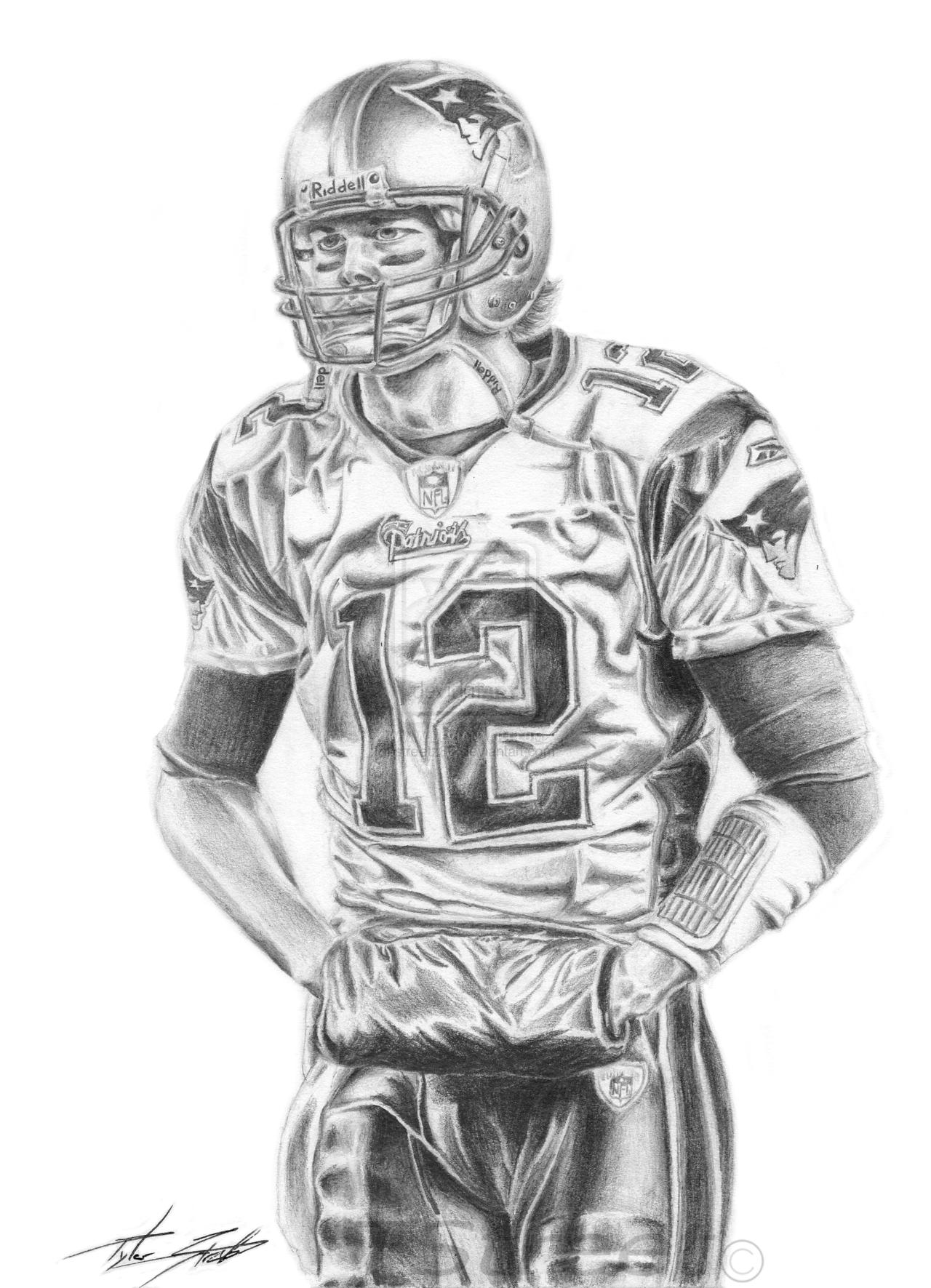 Tom Brady Fanart by streetz10 on DeviantArt  Fan art, Coloring