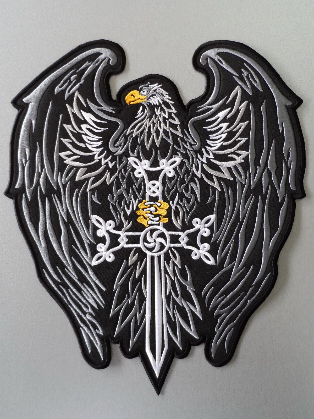 Details about Embroidered Biker Motorcycle Back Eagle