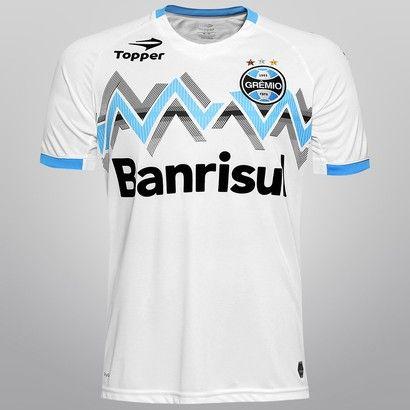 Camisa Topper Grêmio II 2014 s n° - Branco  135c6a61abe81