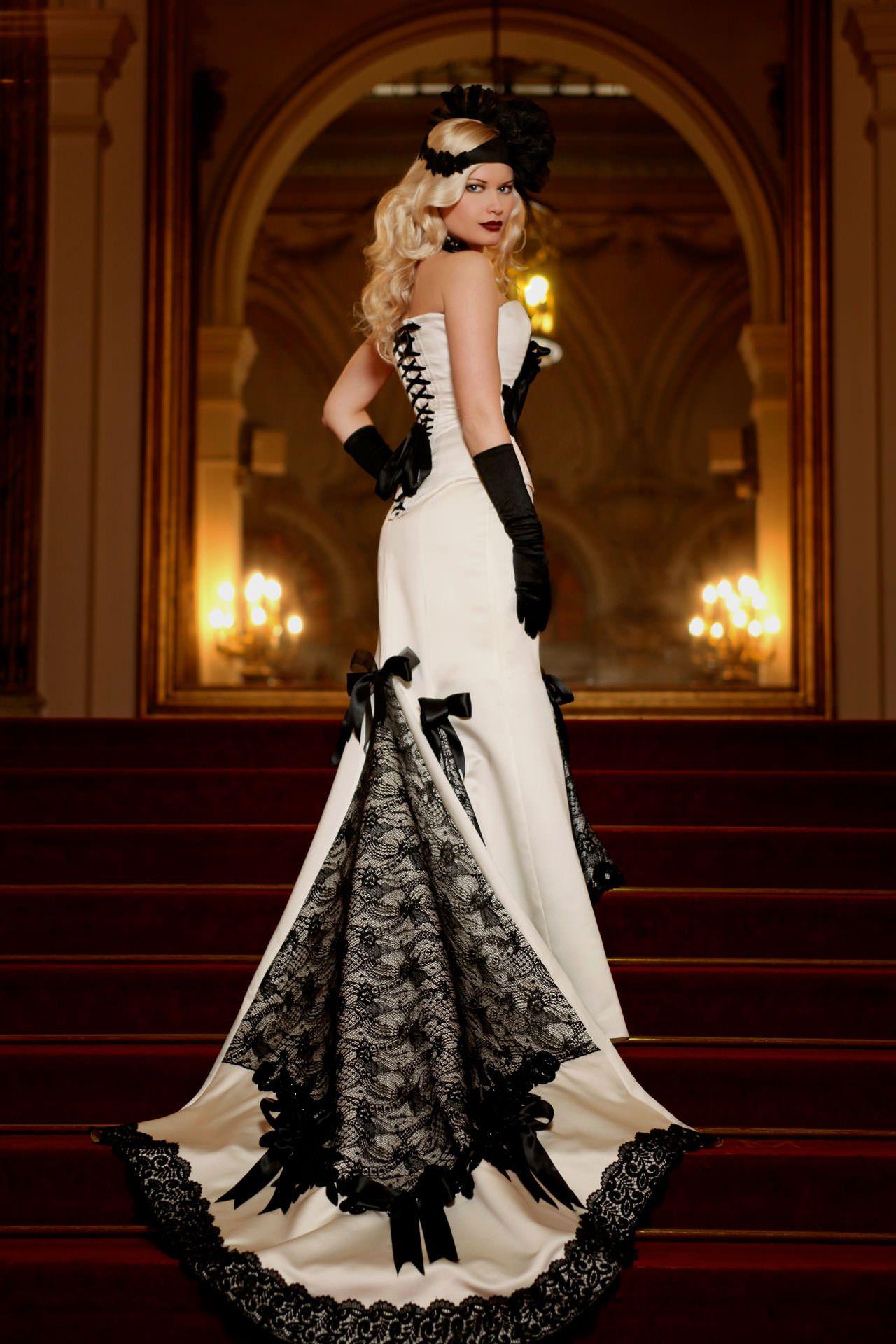 black u white wedding dresses with edgy elegance wedding ideas