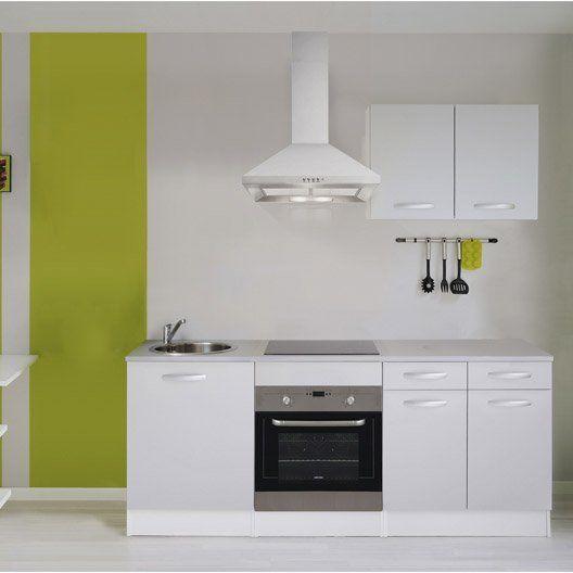 Meuble de cuisine gris aluminium composition type Spring ...