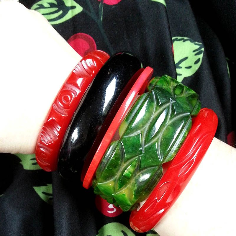 Such a gorgeous bangle stack Carli Hall vintage bakelite