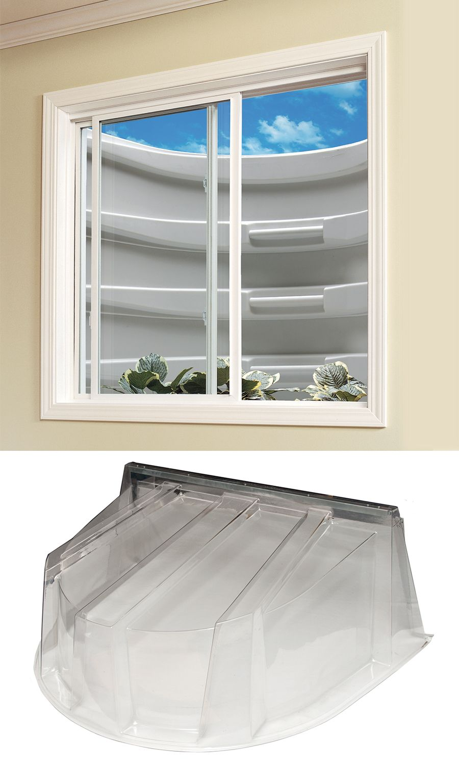 Let The Natural Light Brighten Your Basement This Wellcraft Window Well Dome Cover Not Only Lets Som Window Well Basement Windows Basement Window Replacement