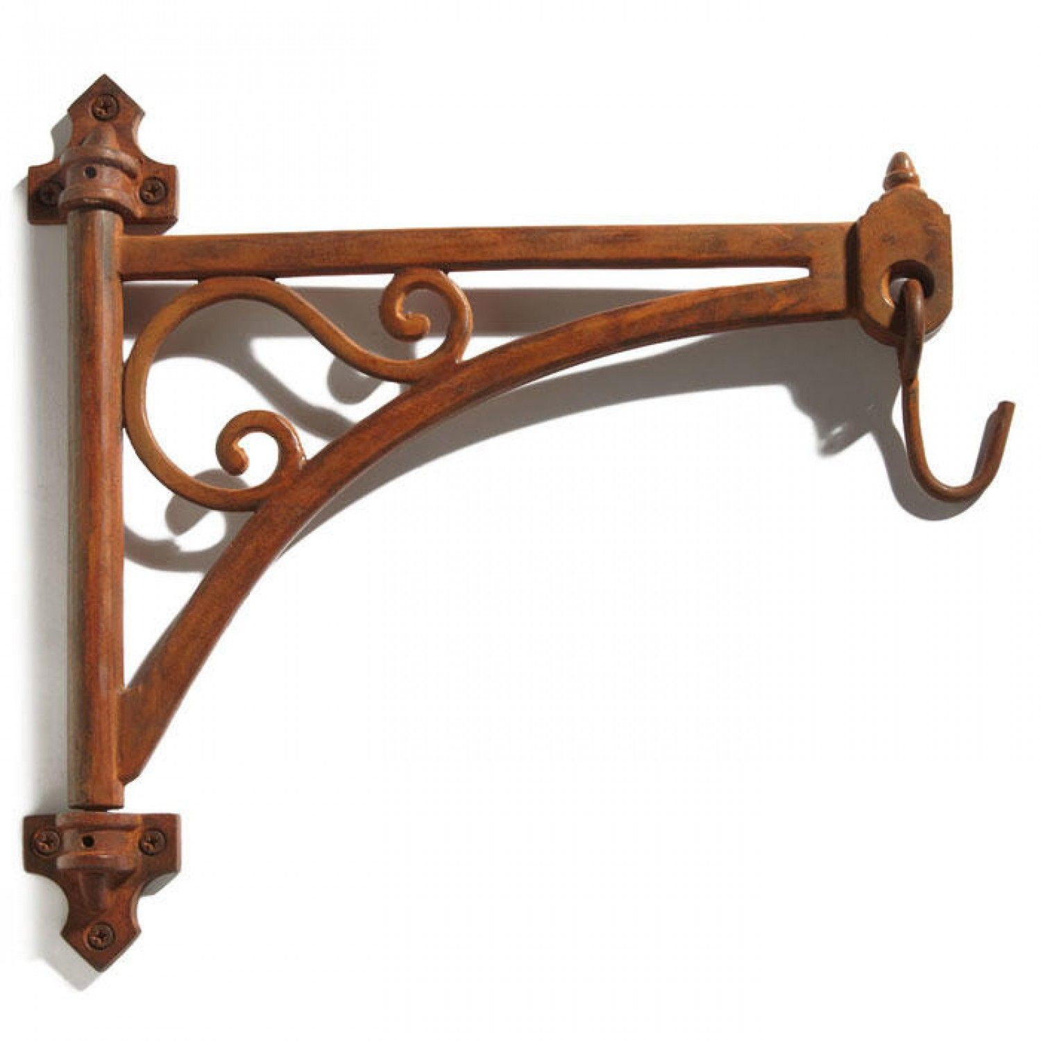 Victorian Cast Iron Hanging Plant Bracket With Swivel Swing Arm