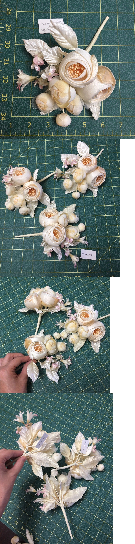 Silk Flowers 16494 Silk And Velvet Millinery Flowers Cream Rose