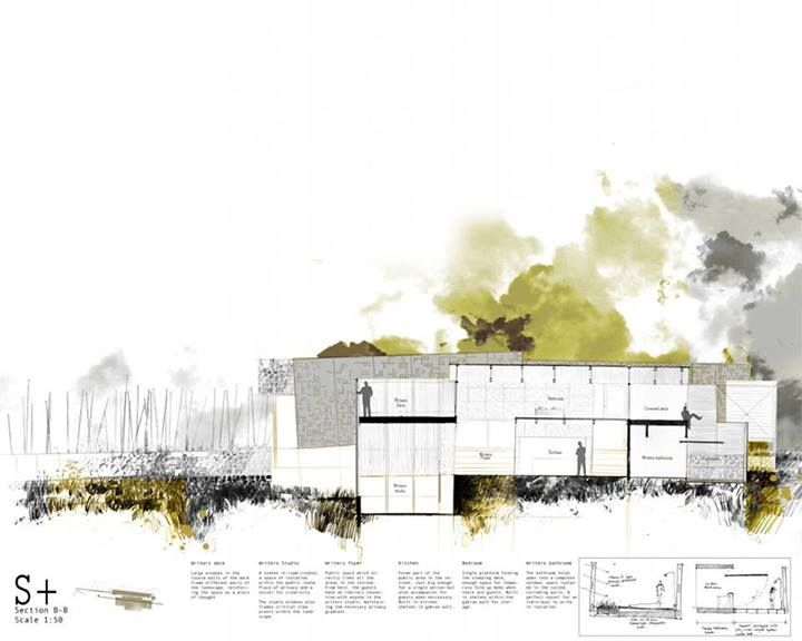 Use Of Watercolour To Display Life Landscape Architecture