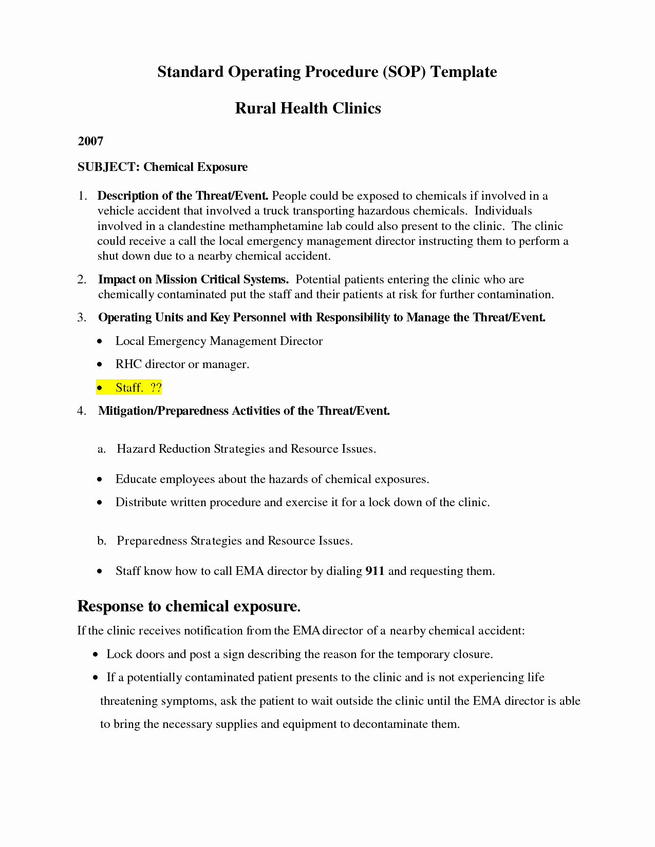 Standard Operation Procedure Format Lovely 9 Standard Standard Operating Procedure Standard Operating Procedure Template Standard Operating Procedure Examples
