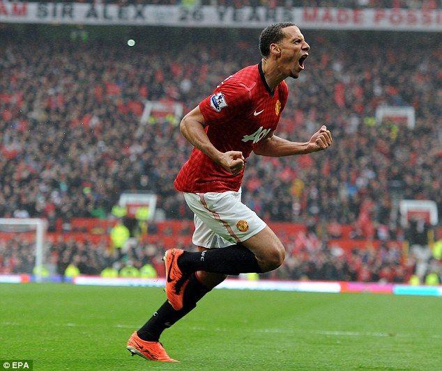 Rio Ferdinand Of Manchester United Celebrating His Winner Against Swansea City