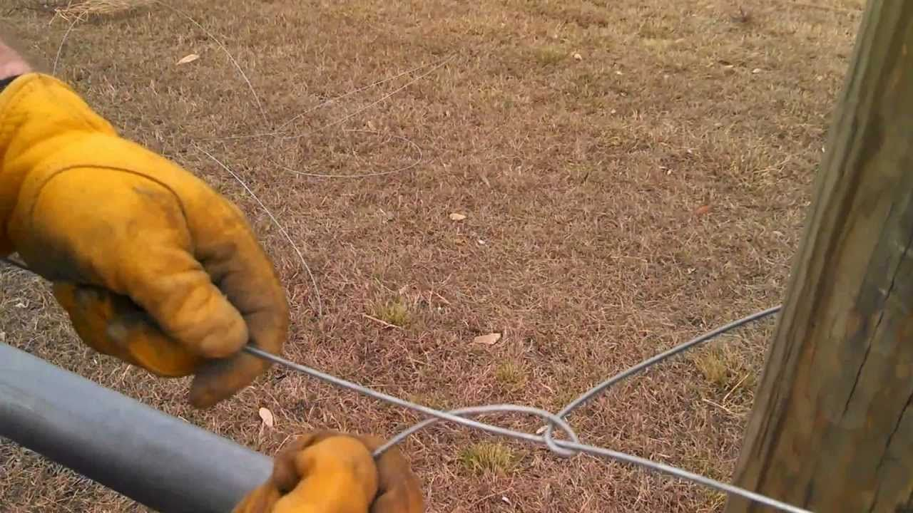Tying Off High Tensile Wire | Fence Supplies | Pinterest