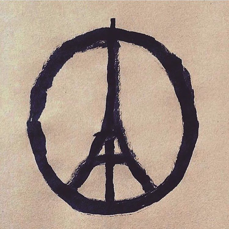I tried to find the credit for this but couldn't.  #prayforparis #peace #Eiffeltower #worldpeace #peaceplease