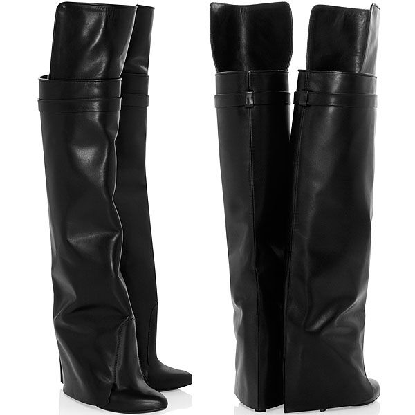 free shipping 2014 unisex Givenchy Leather Wedged Boots discount great deals kgT0bAglz