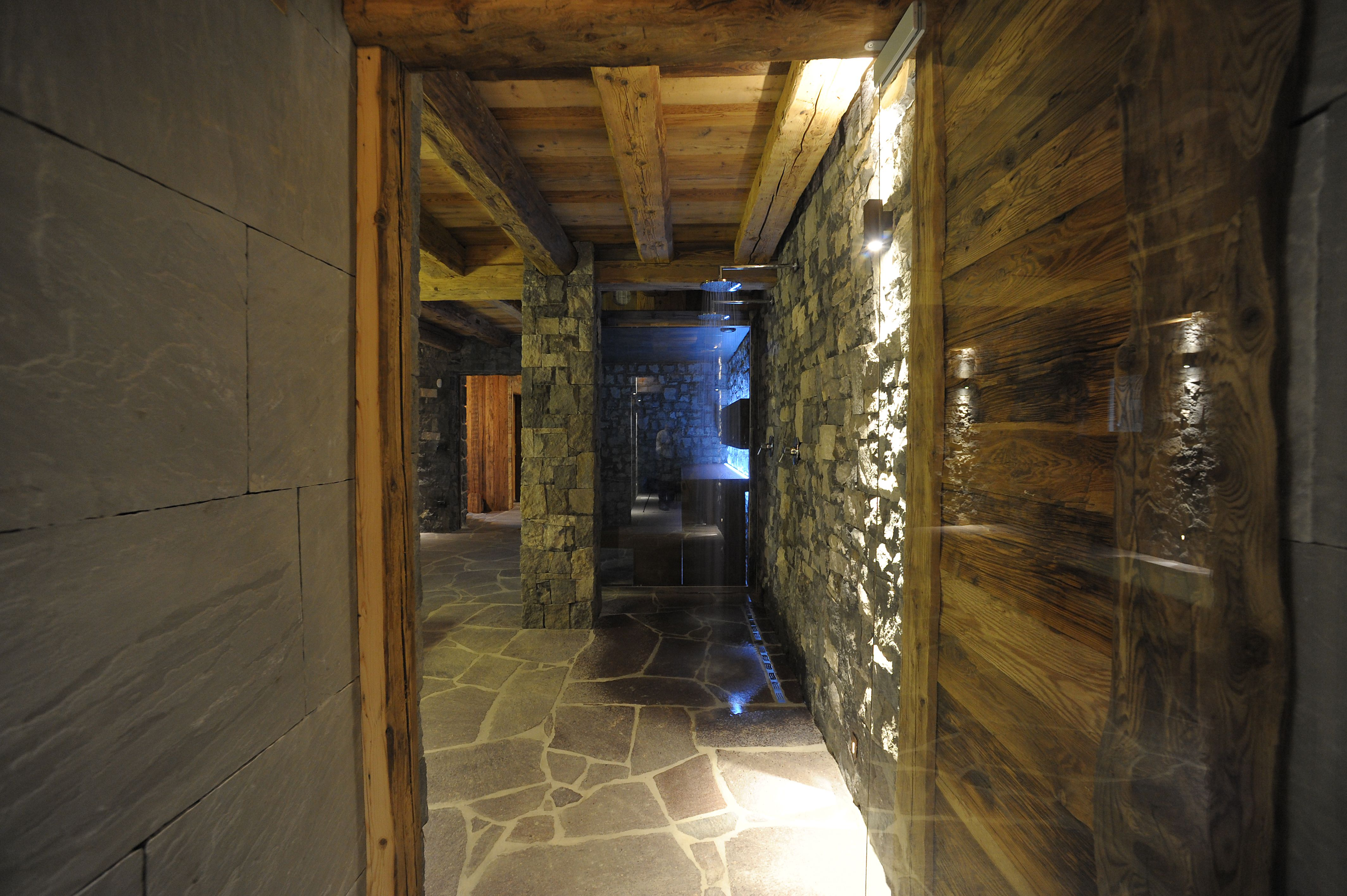 Wellness area from another view. Steam Bath and Sauna by Carmenta.