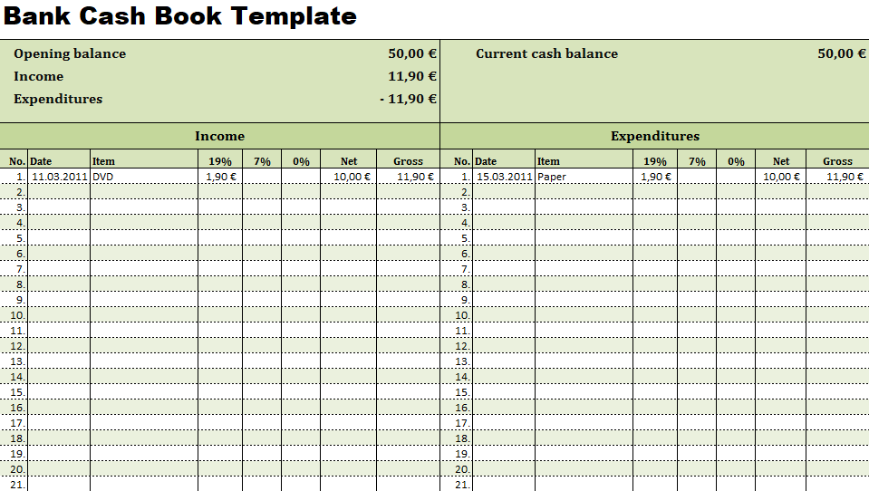 Bank Cash Book Template Excel Format Excel Perks Online Free Excel Templates Tips Book Template Financial Management Templates