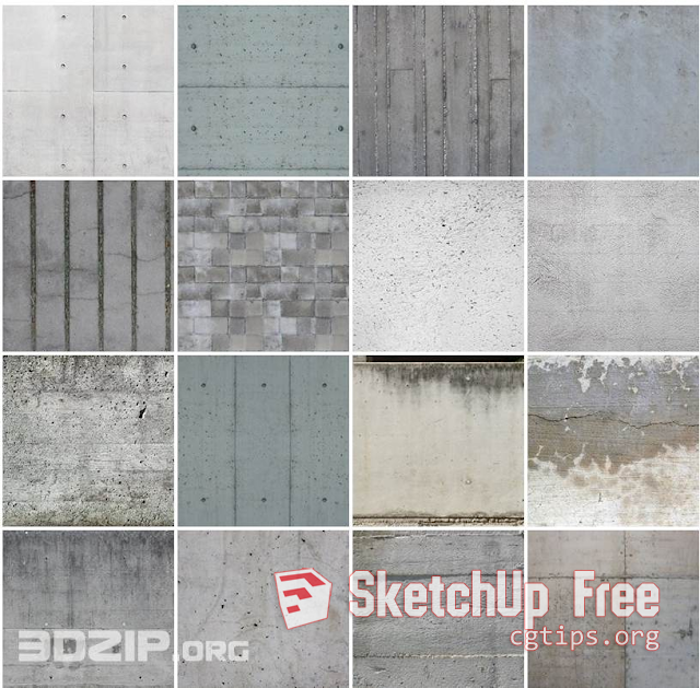 1006 Concrete Textures Sketchup Model Free Download Concrete Texture Texture Sketchup Model