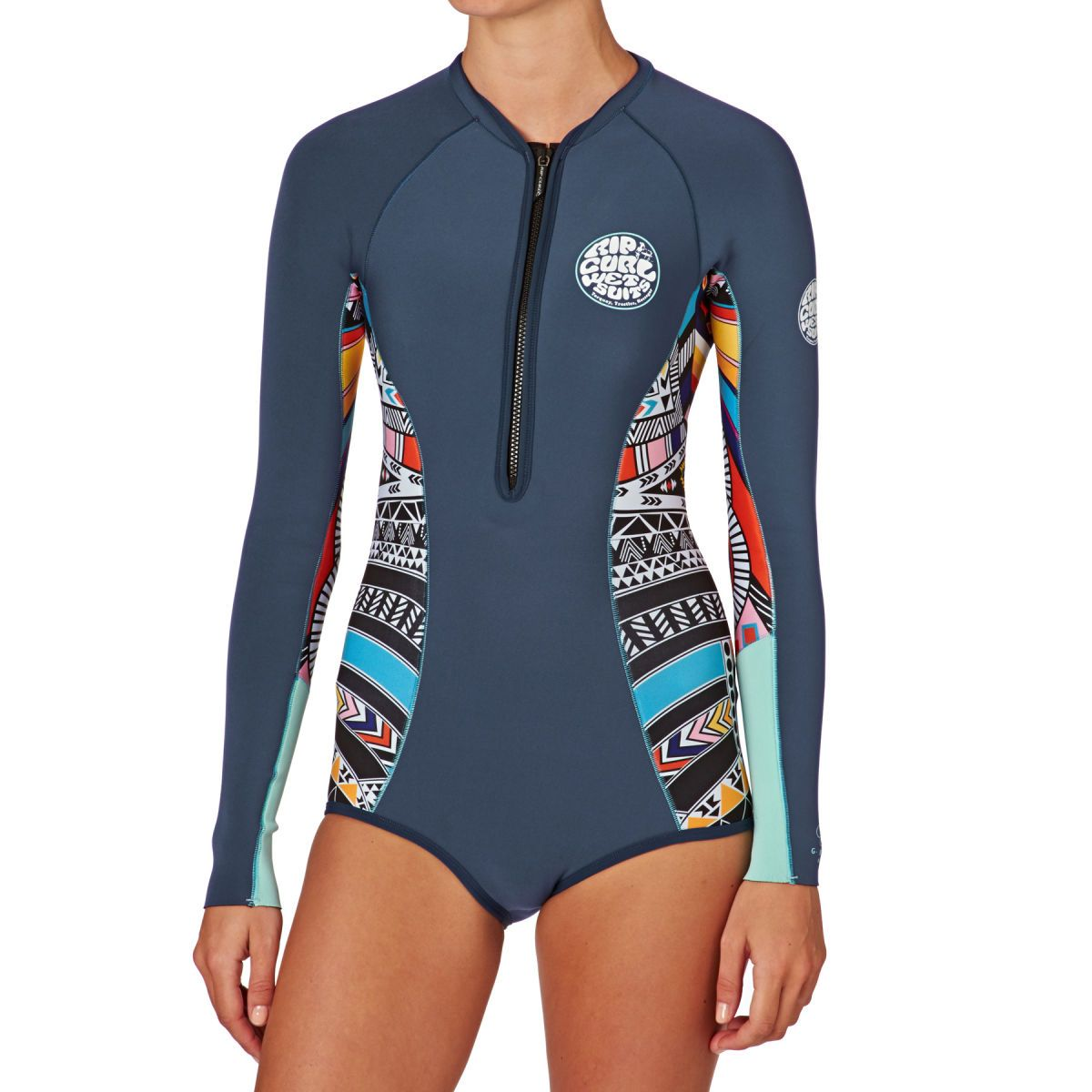 78358102e4 Rip Curl Wetsuits - Rip Curl Womens G Bomb 1mm Front Zip Long Sleeve Shorty  Wetsuit - Blue