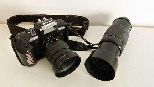 Vendo camara Nikon f-401x mas 2 objetivos 45-90mm y 100-300mm.