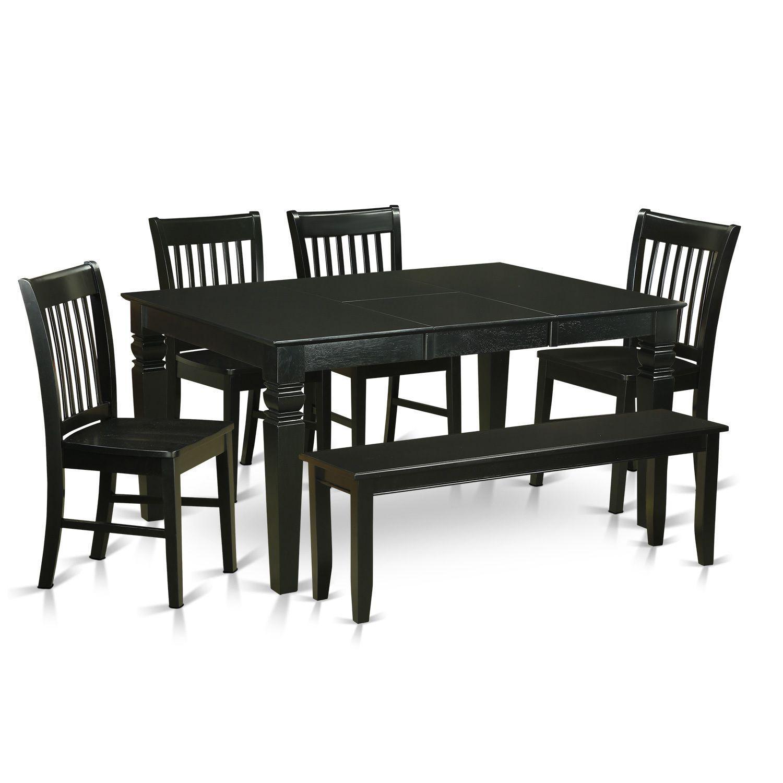 Black Rubberwood Kitchen Dinette Set