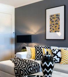 formidable deco salon gris peinture grise sur les murs canap blanc lments deco
