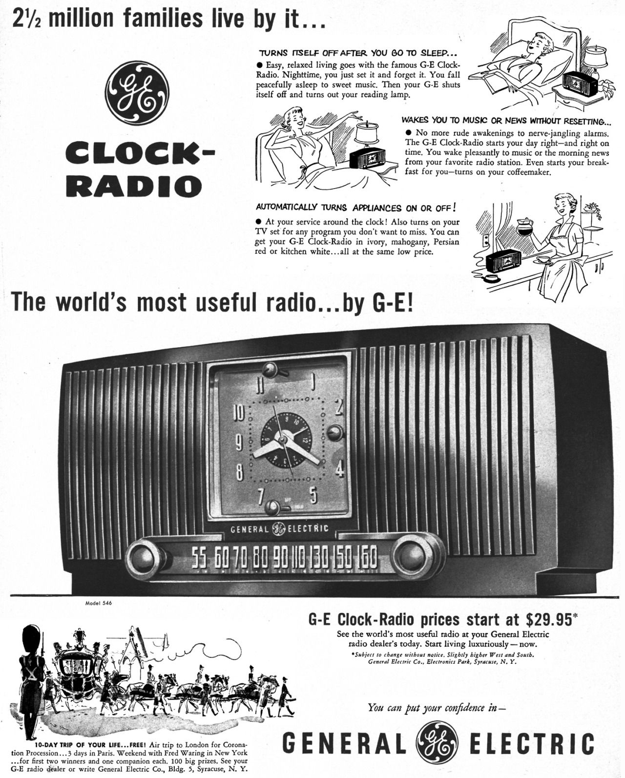 Radio reloj GENERAL ELECTRIC.