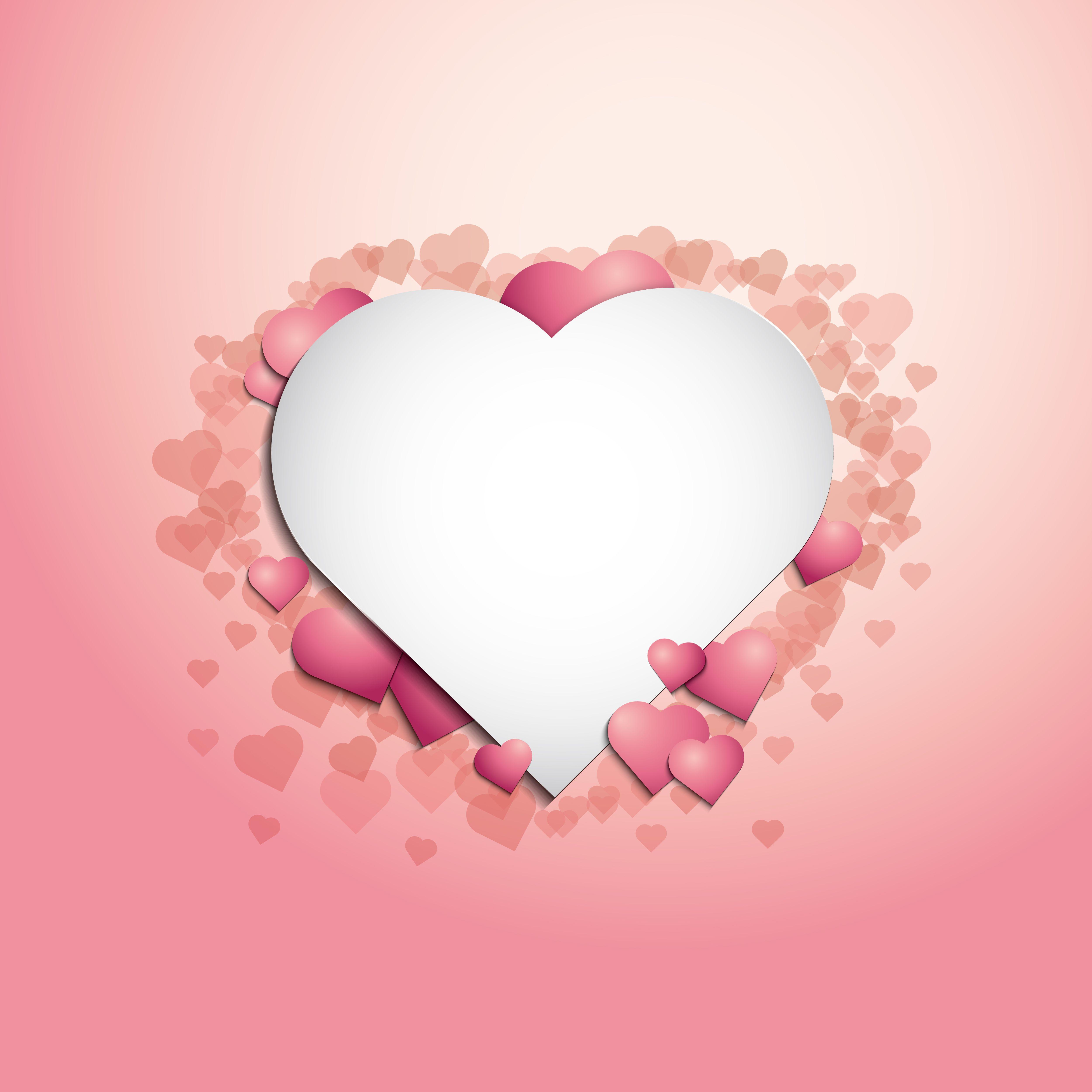 Design Born Pink Card Background Valentine Heart Images Heart Frame Flower Frame
