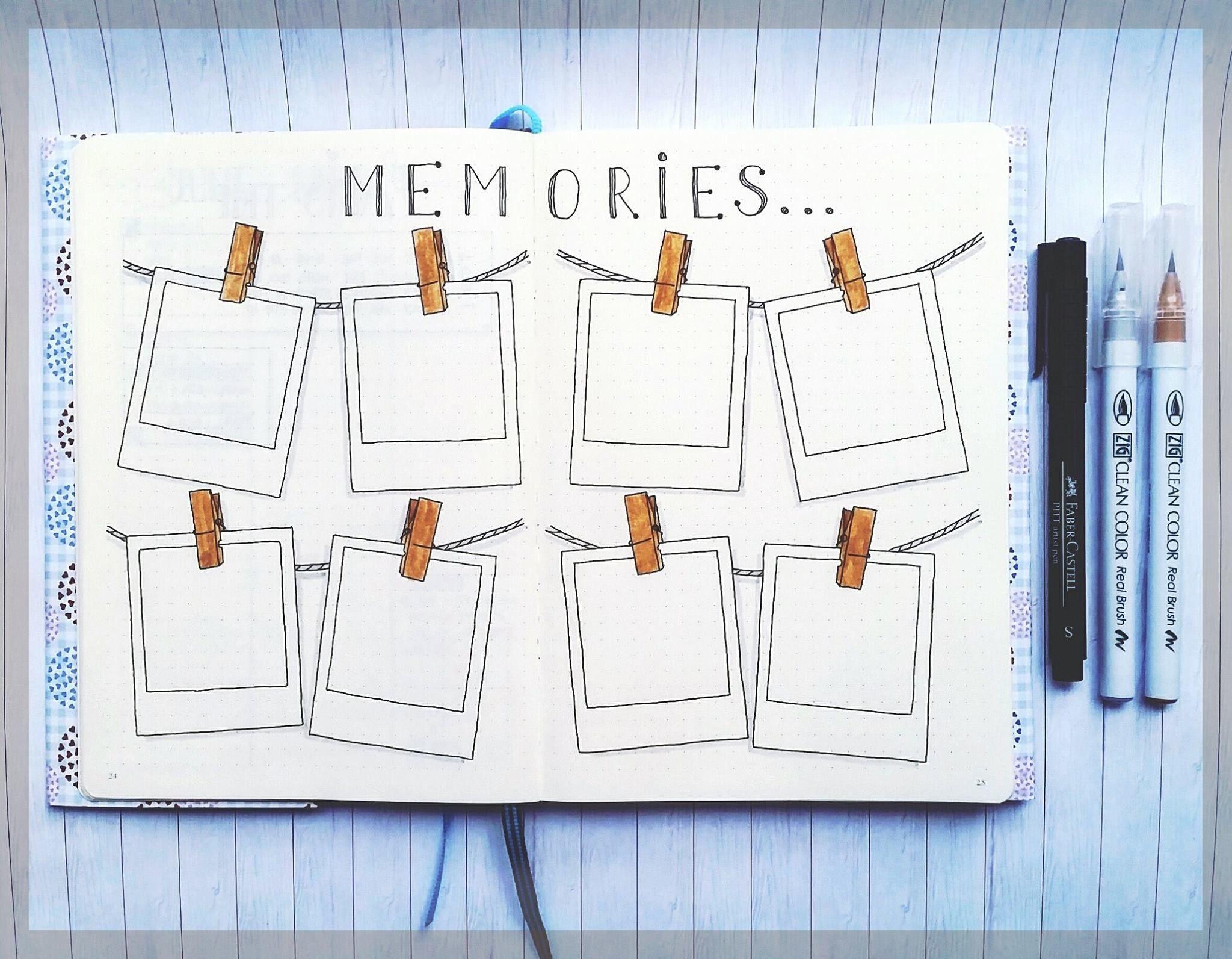memories ou weekly semaine journaling pinterest bullet