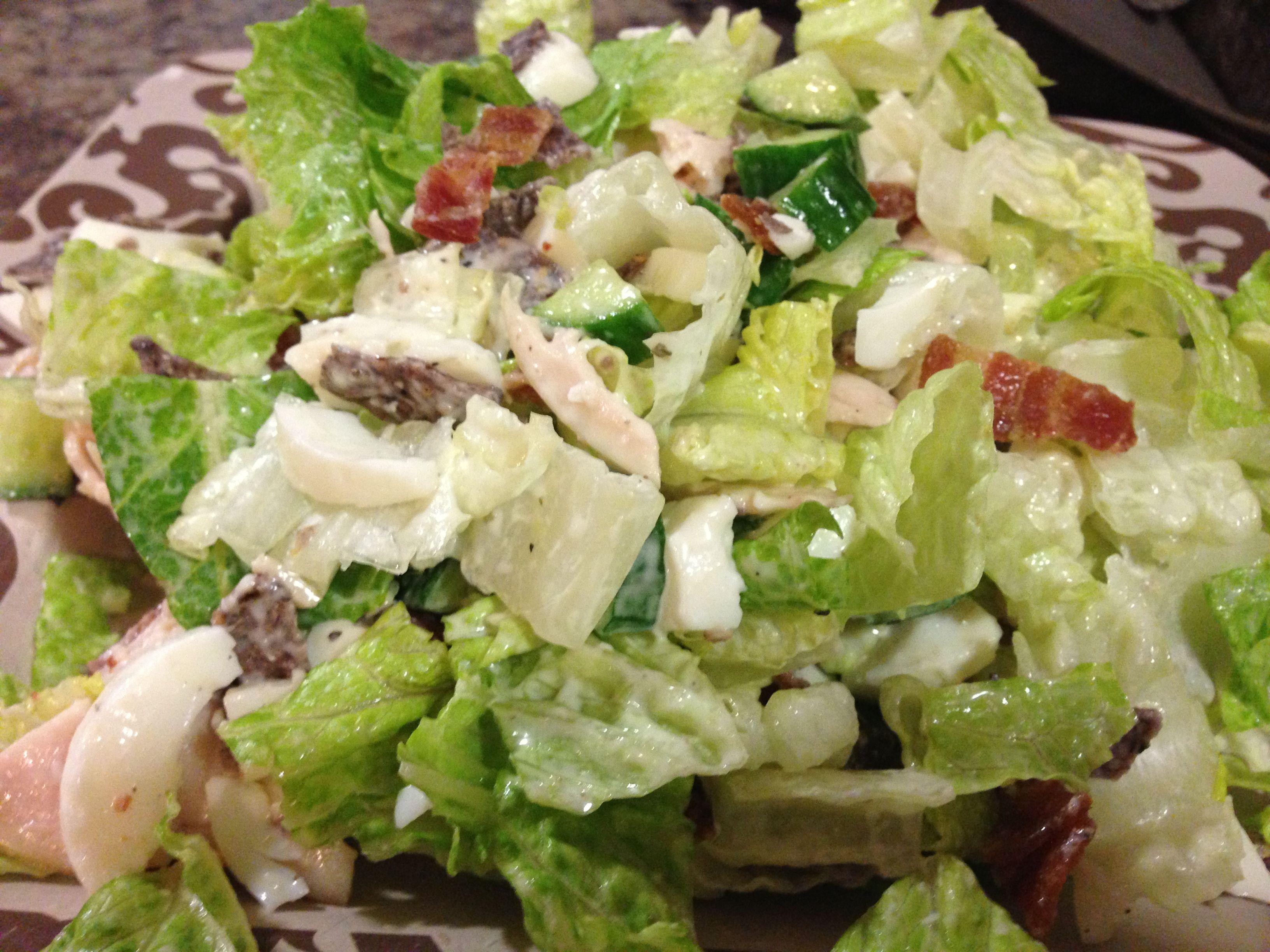 Chicken Cobb Salad- oh so good! | Pats Creations | Pinterest