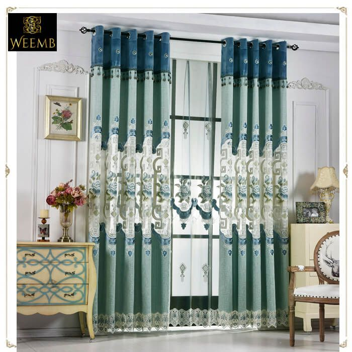 Embroidery Curtain Fabric By The Roll Living Room Drapes Curtains Curtain Fabric