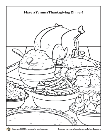 Thanksgiving Dinner Coloring Page Thanksgiving Coloring Pages Valentines Day Coloring Page Coloring Pages