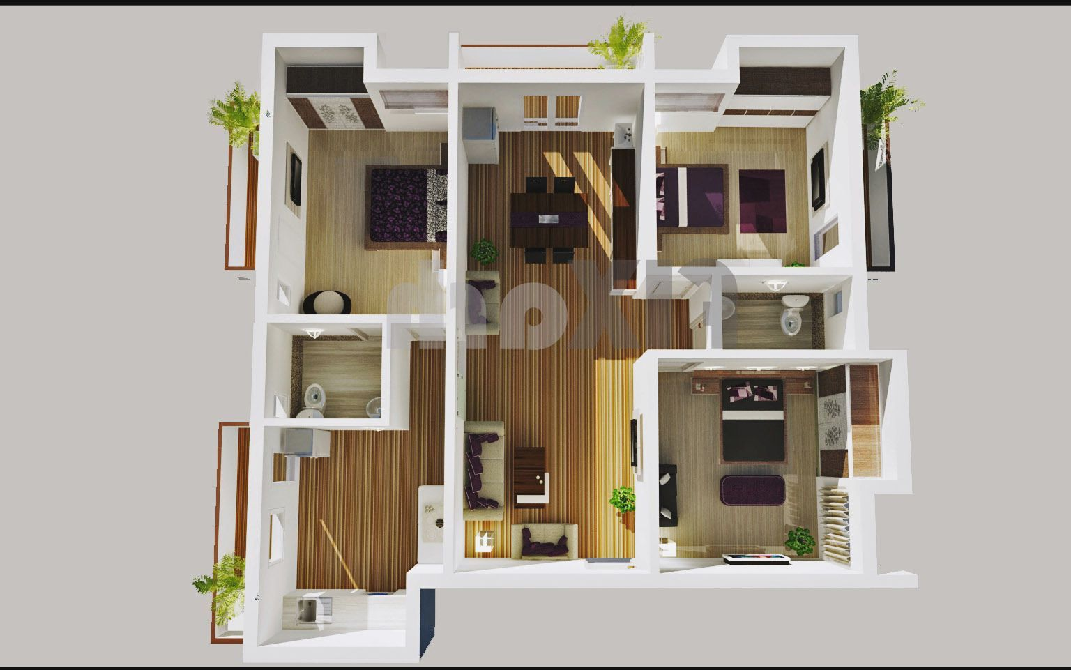 apartment floor plans 3 bedroom - http://shapeweekly/apartment