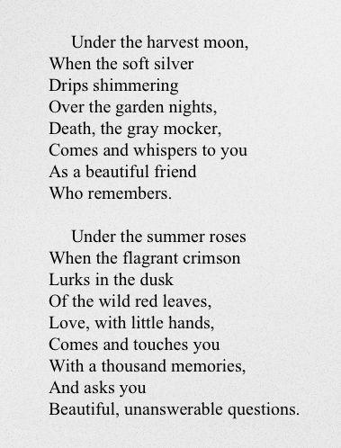 red moon blue sun poem - photo #26