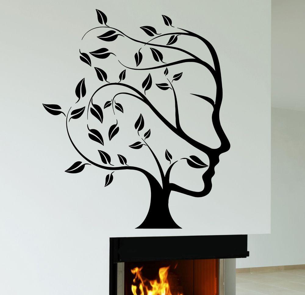 Details About Wall Decal Tree Nature Abstract Woman Face Vinyl Stickers Art Mural Ig2552 Art Mural Sticker Art