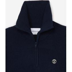Photo of The Kooples – Blauer Pullover aus Merinowolle mit Badge – Damen