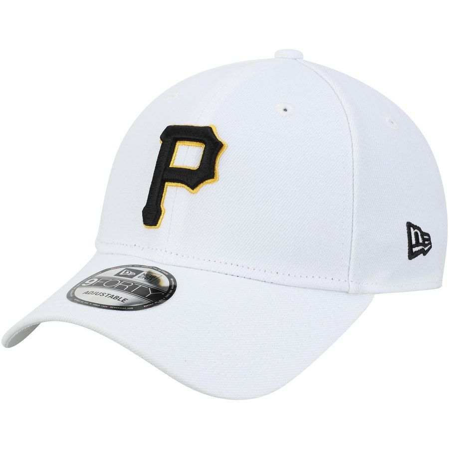 34839fecc2e Men s Pittsburgh Pirates New Era White League 9FORTY Adjustable Hat ...