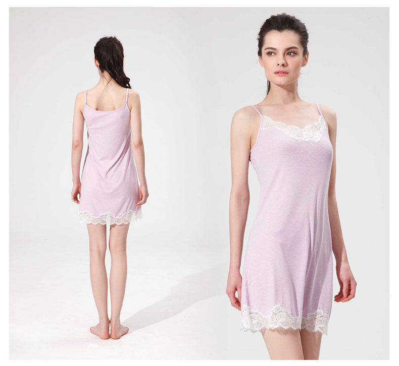 a5edebdd23 Women Nightwear Night Dress Lady Cotton Nightgown Female Sleeveless Lace  Nighty Sexy Sleepwear Sleep Sleepshirt Sexy