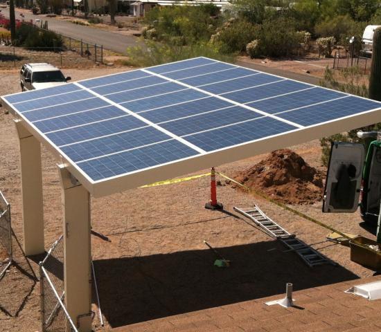 Solar Carports and Canopies IBeam and Box Beam Designs
