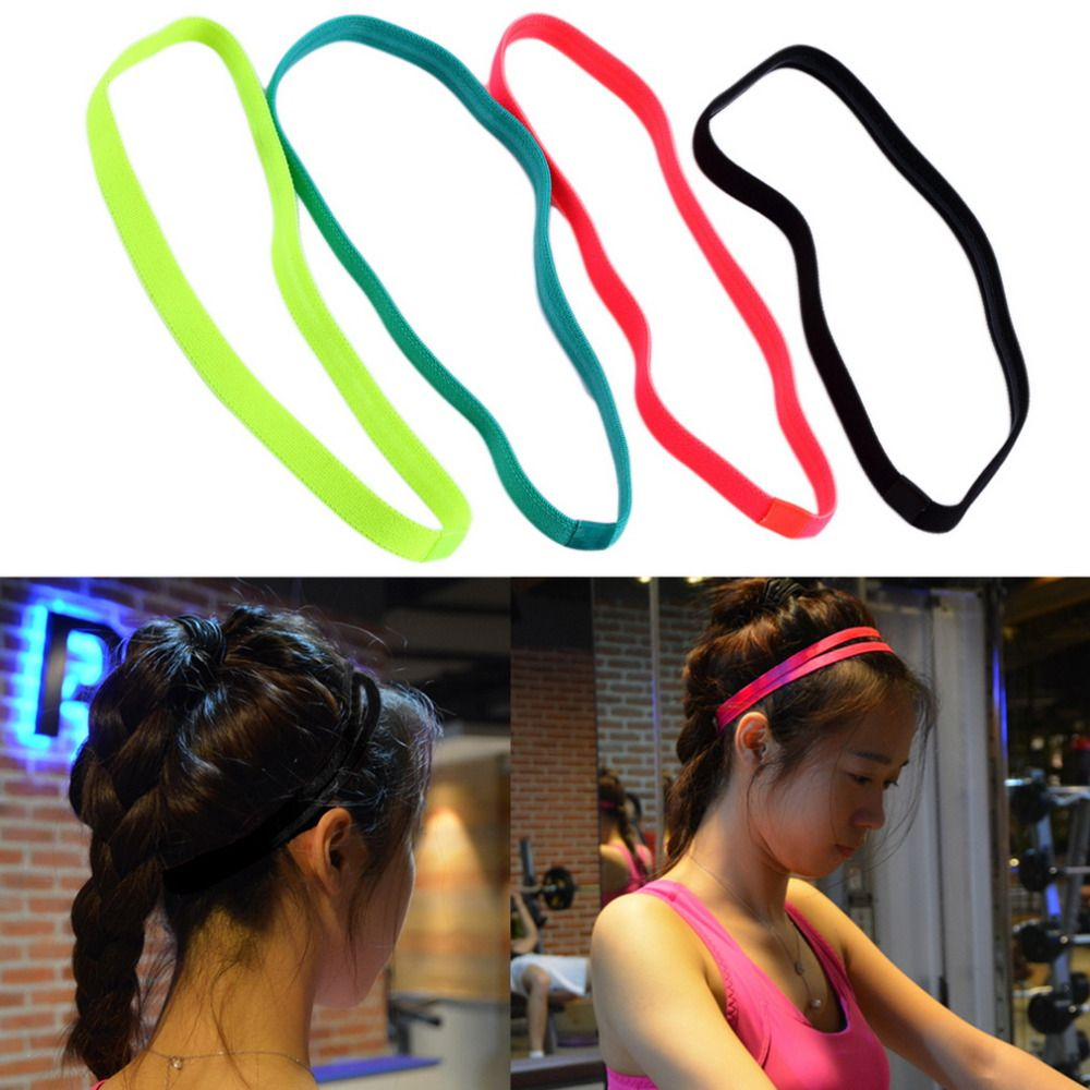 Ladies Mens Sports HairBand Stretchy Sweatband Yoga Gym Football Tennis HeadBand