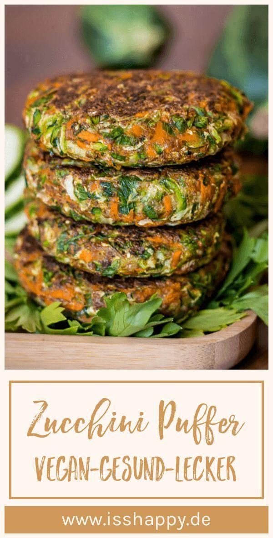 Einfache Zucchini Puffer – vegan & glutenfrei (ohne Ei & Mehl) #veganerezepte