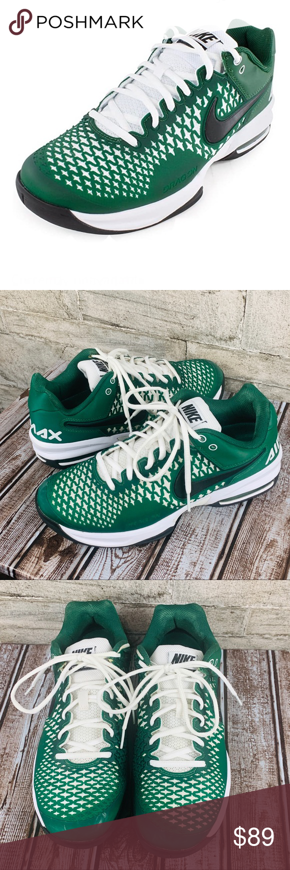 Nike Air Max Cage, Men's Tennis Shoe Gorge Size 8 Nike Air