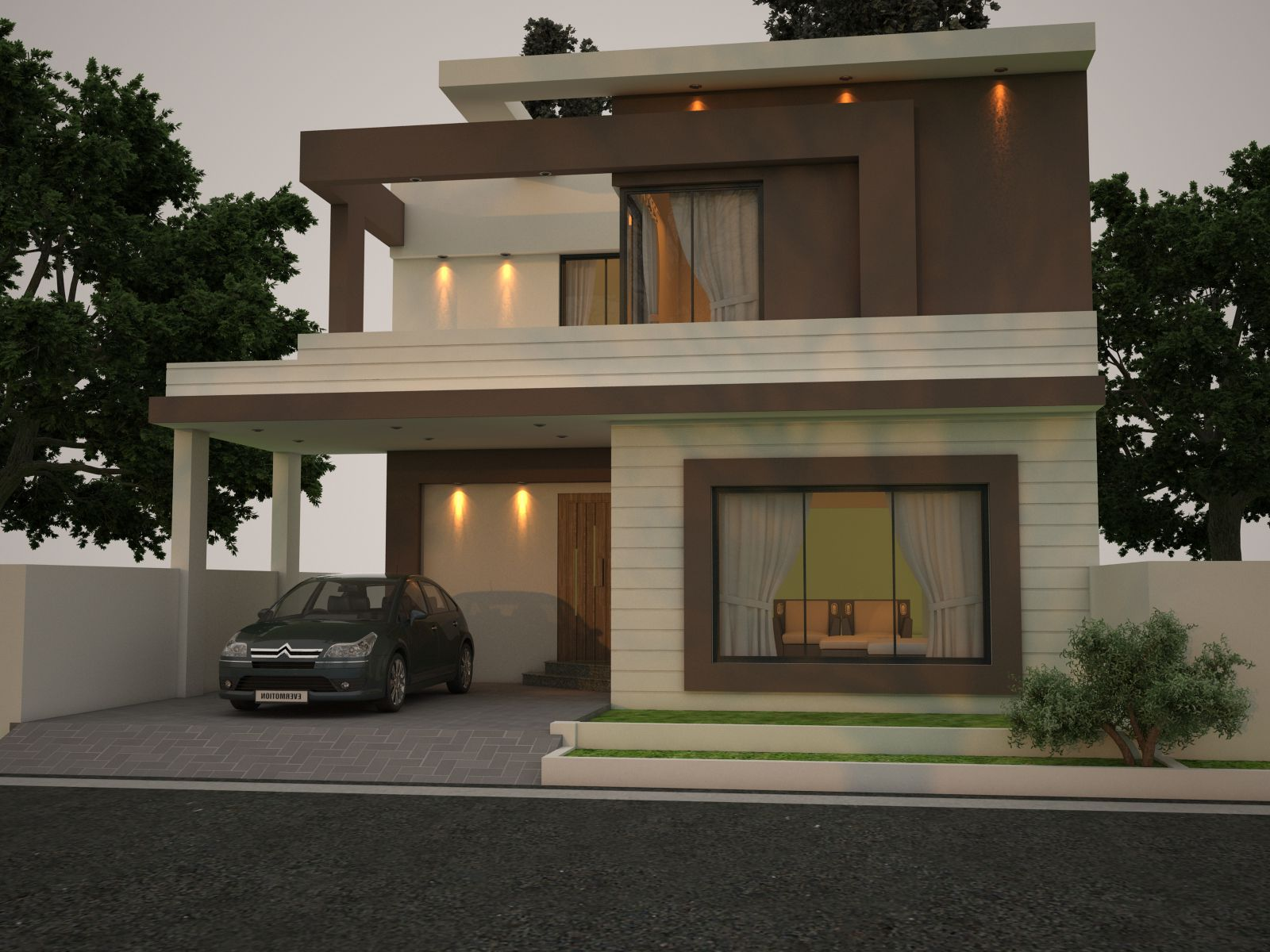 The outstanding front elevation. | House front design ...