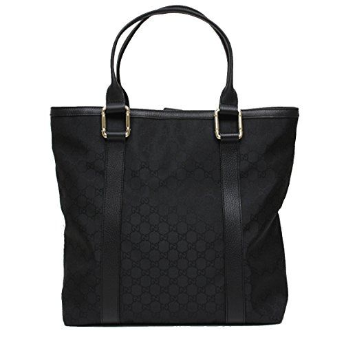 Gucci Bamboo Top Handle Large Black Nylon and Leather Tote Bag Shoulder Handbag 341536   Accessorising – Brand Name / Designer Handbags For Carry & Wear… Share If You Care!