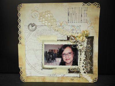 """Prima layouts """"Me, Me & Not Me"""" 12x12"""" page layout by Le Rai Originals"""