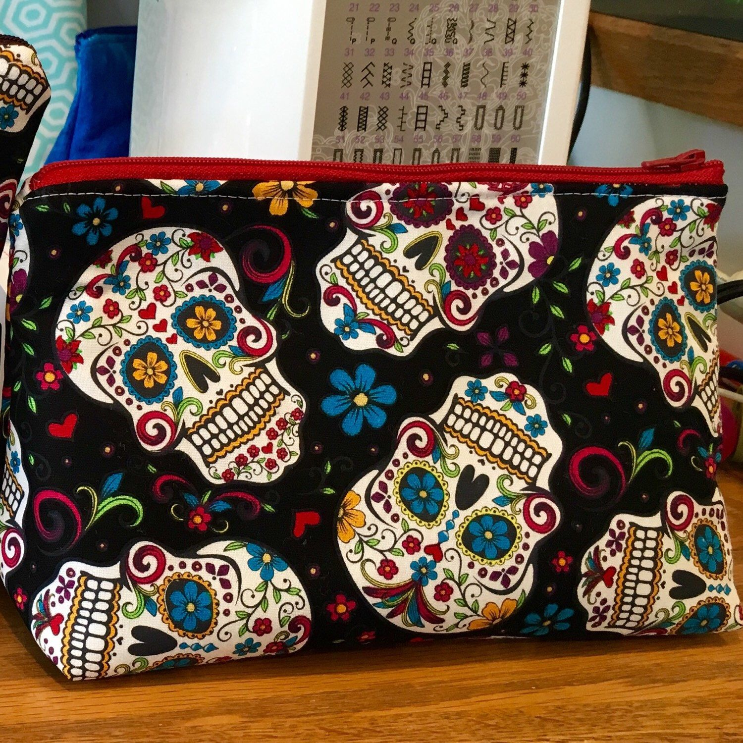 In love with this new sugar skull fabric! Super cute, right?!