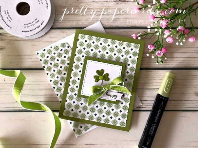 Handmade St. Patrick's Day Card using all Stampin' Up! products; created by Pe…