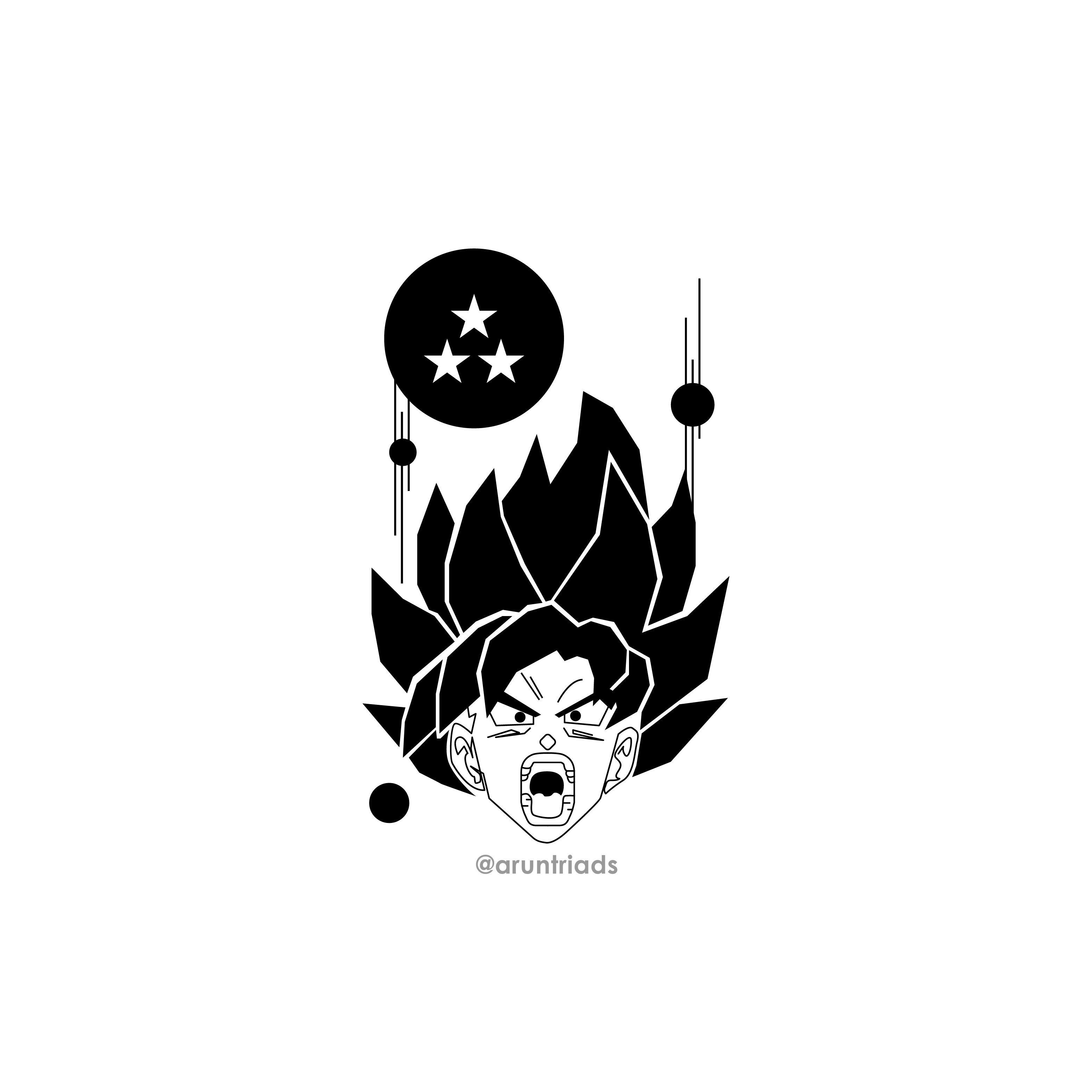 Goku Dragon Ball Z Tattoo Z Tattoo Tattoo Stencil Designs Dragon Ball Z