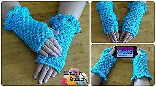 The very first pair of mittens is crocheted in a typically girly color that is almost loved by all the girls and ladies. Well, this is not any condition at all, you can opt the color of your choice. The matter of concentration is the basic concept.