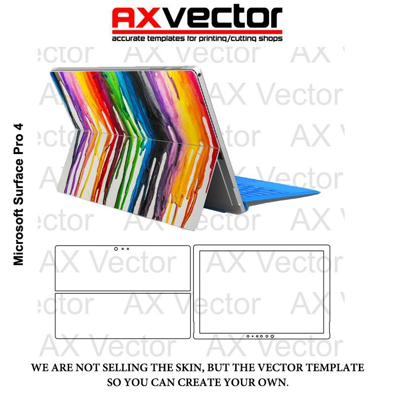 42614acec1ac0 Microsoft Surface Pro 4 Vector Template | Cameo | Surface pro ...