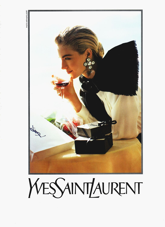YSL ss 1990 Christy Turlington, Elaine Irwin by Arthur Elgort