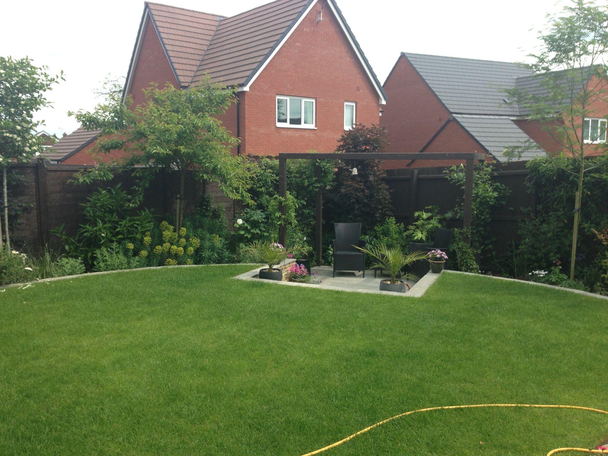 Goscote Design Practice Small Garden New Build Overlooked Garden Edged Lawn Small Patio Pergola Garden Oasis House Styles Design Home Decor
