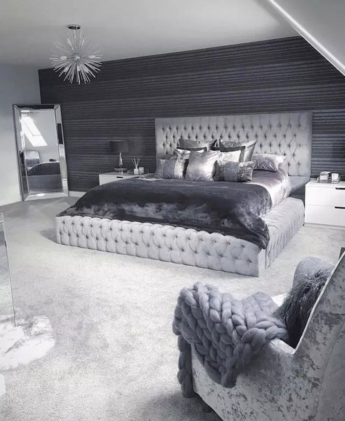 71 Stunning Grey And Silver Bedroom Ideas To Inspire You 3
